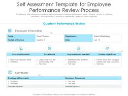 Self Assessment Template For Employee Performance Review Process