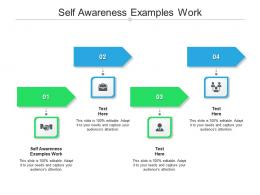 Self Awareness Examples Work Ppt Powerpoint Presentation Model Gridlines Cpb