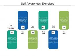 Self Awareness Exercises Ppt Powerpoint Presentation Layouts Skills Cpb