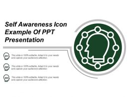Self Awareness Icon Example Of Ppt Presentation