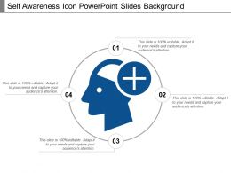 Self Awareness Icon Powerpoint Slides Background