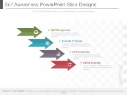 Self Awareness Powerpoint Slides Designs