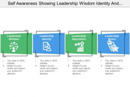 Self Awareness Showing Leadership Wisdom Identity And Reputation