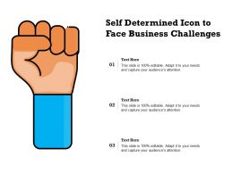 Self Determined Icon To Face Business Challenges