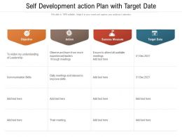 Self Development Action Plan With Target Date