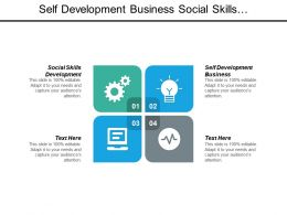 Self Development Business Social Skills Development Team Work Skills Cpb