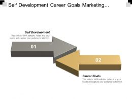 Self Development Career Goals Marketing Research Techniques Enterprise Management