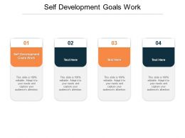 Self Development Goals Work Ppt Powerpoint Presentation Slides Templates Cpb