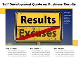Self Development Quote On Business Results