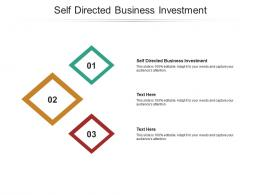 Self Directed Business Investment Ppt Powerpoint Presentation Information Cpb
