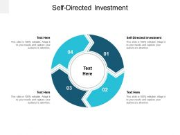 Self Directed Investment Ppt Powerpoint Presentation Infographic Template Maker Cpb