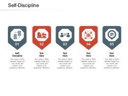 Self Discipline Ppt Powerpoint Presentation Professional Show Cpb