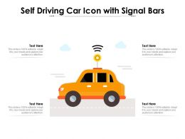 Self Driving Car Icon With Signal Bars