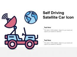 Self Driving Satellite Car Icon
