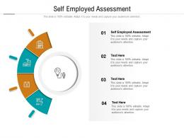 Self Employed Assessment Ppt Powerpoint Presentation Icon Designs Cpb