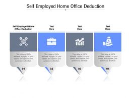 Self Employed Home Office Deduction Ppt Powerpoint Presentation Professional Cpb