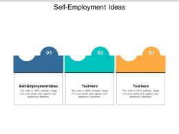 Self Employment Ideas Ppt Powerpoint Presentation Styles File Formats Cpb