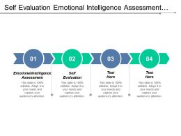 Self Evaluation Emotional Intelligence Assessment Lean Startup Model Cpb