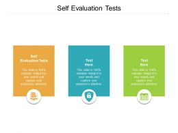 Self Evaluation Tests Ppt Powerpoint Presentation Pictures Graphics Cpb
