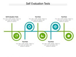 Self Evaluation Tests Ppt Powerpoint Presentation Professional Example File Cpb