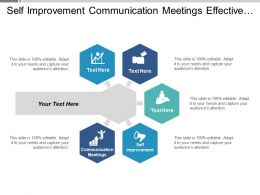 Self Improvement Communication Meetings Effective Teams Engagement Motivation Cpb