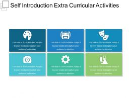 Self Introduction Extra Curricular Activities Sample Of Ppt Presentation
