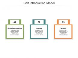 Self Introduction Model Ppt Powerpoint Presentation Gallery Designs Cpb
