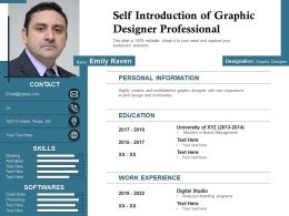 Self Introduction Of Graphic Designer Professional