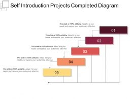 Self Introduction Projects Completed Diagram Presentation Deck