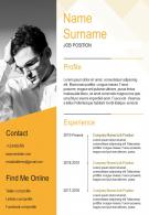 Self Introduction Resume And CV Fully Editable Powerpoint Template
