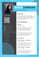 Self Introduction Resume CV Sample Creative Template To Impress Employers