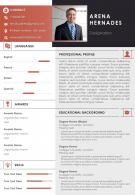 Self Introduction Sample Curriculum Vitae For Job Application