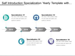 Self Introduction Specialization Yearly Template With Icon