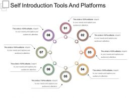 Self Introduction Tools And Platforms Presentation Design