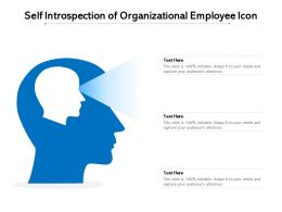 Self Introspection Of Organizational Employee Icon
