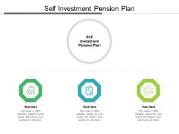 Self Investment Pension Plan Ppt Powerpoint Presentation Infographics Background Cpb