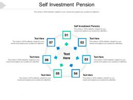Self Investment Pension Ppt Powerpoint Presentation Portfolio Infographic Template Cpb