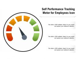 Self Performance Tracking Meter For Employees Icon