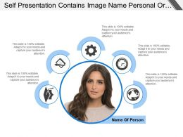 Self Presentation Contains Image Name Personal Or Professional Information
