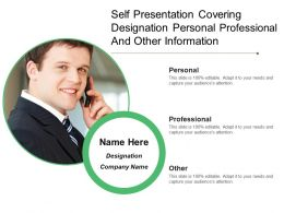Self Presentation Covering Designation Personal Professional And Other Information