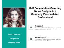 Self Presentation Covering Name Designation Company Personal And Professional