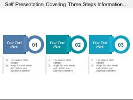 Self Presentation Covering Three Steps Information With Text Boxes