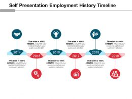 self_presentation_employment_history_timeline_good_ppt_example_Slide01