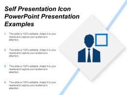 Self Presentation Icon Powerpoint Presentation Examples