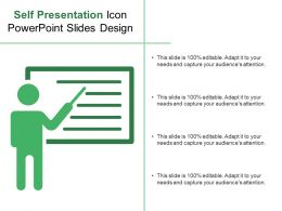 Self Presentation Icon Powerpoint Slides Design