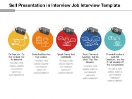 Self Presentation In Interview Job Interview Template Powerpoint Graphics