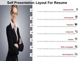 Self Presentation Layout For Resume Powerpoint Images