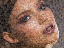Self Presentation Photo Mosaic Creative About Me Slide Sample Of Ppt