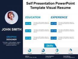 Self Presentation Powerpoint Template Visual Resume