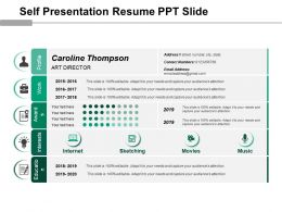 Self Presentation Resume Ppt Slide  Resume Ppt